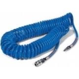 Шланг спиральный полиуретановый с резьбовыми вращающимися адаптерами, длина 15 м, диаметр 10х15 мм МАСТАК 680-10015ST